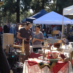 Couple Dating At Topanga Vintage Market