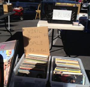 Vintage albums and cd's at our flea market